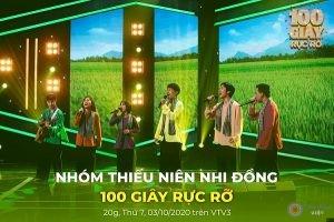 Xôn Nguyễn tham cùng nhóm bạn tham gia chương trình 100 GIÂY RỰC RỠ
